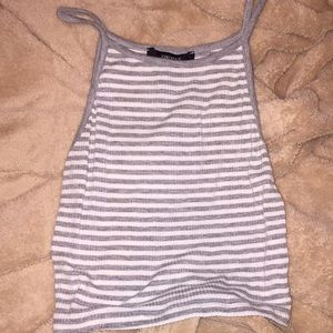 strip shirt, cropped, soft and stretchy